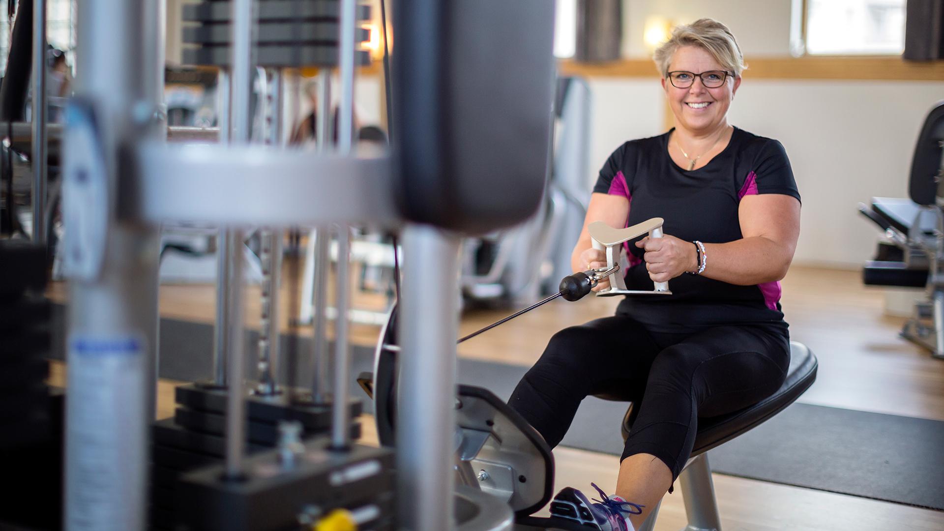 Träning i gymmaskiner